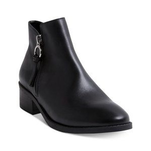 Steve Madden Dacey Black Leather Ankle Boot